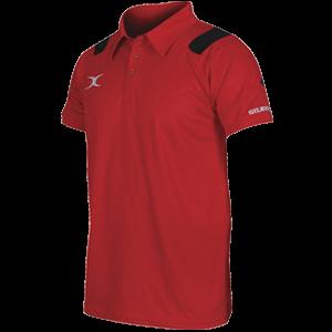 Koszulka VAPOUR POLO czerwono-czarna